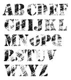 Grunge full alphabet. Stamp dotted letters Stock Photo
