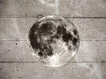 Grunge full moon on wall Royalty Free Stock Photo