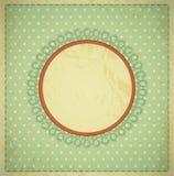 Grunge, fundo do vintage com um frame circular Fotos de Stock