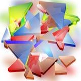 Grunge futuristische 3d abstracte achtergrond met geometrische vormen royalty-vrije illustratie