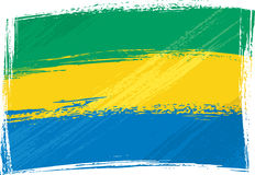 Grunge Gabon flag Stock Photos