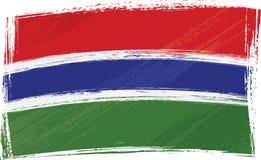 Grunge Gambia Markierungsfahne Stockbild