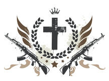 Grunge gang design Stock Images