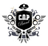 Grunge gang design Royalty Free Stock Images