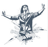 Grunge gang design Stock Photo