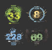 Grunge gangster lucky number prints vector. Grunge print for t-shirt. Abstract dirt backgrounds texture. Grunge banner Royalty Free Stock Photos