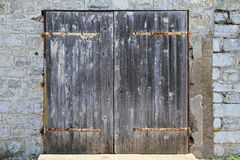 Grunge garage door Royalty Free Stock Photography
