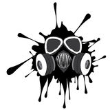 Grunge Gas Mask Royalty Free Stock Photography
