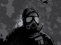 Grunge gasmask background Royalty Free Stock Images