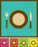 Grunge Gaststätte-Fahnen-Set Lizenzfreie Stockbilder