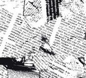 grunge gazety w b Zdjęcia Royalty Free
