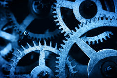 Grunge Gear, Cog Wheels Background. Industrial Science, Clockwork, Technology. Stock Photography