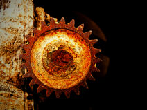 Grunge gear wheel Royalty Free Stock Image