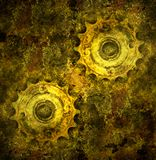 Grunge gears. Highly detailed grunge texture stock photos