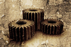 Grunge gears Stock Photography
