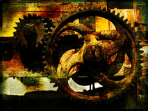Grunge gears. Grunge gears, grainy vintage background Royalty Free Stock Images