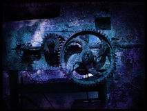 Grunge gears 5. Grunge gears, abstract grainy vintage background Royalty Free Stock Images