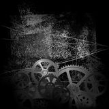 Grunge gears 01. Abstract grunge technology background, vector illustration clip-art Stock Photo