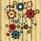Grunge gears background Stock Photos
