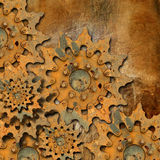 Grunge Gears Background Royalty Free Stock Photos
