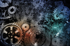 Grunge gears background Royalty Free Stock Images