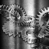 Grunge gears background Royalty Free Stock Photography