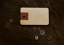 Grunge gears tag Stock Images