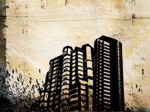Grunge Gebäude Lizenzfreie Stockfotografie