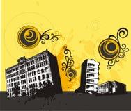 Grunge Gebäudehintergrund Stockfoto
