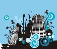 Grunge Gebäudehintergrund Stockbild