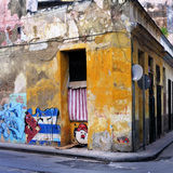 Grunge Gebäudewand in Havana stockbild