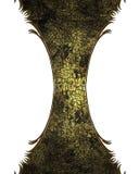 Grunge gebarsten structuur met een gele tint vector illustratie