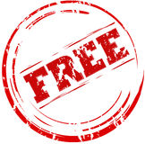 Grunge geben Stempel frei Lizenzfreie Stockbilder