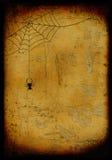 Grunge gebrande Halloween achtergrond Royalty-vrije Stock Afbeelding