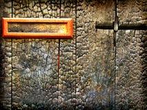 Grunge gebrande houten textuur als achtergrond Stock Afbeeldingen