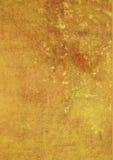 grunge geel-bruin bevlekte oppervlakte Royalty-vrije Stock Foto