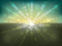 Grunge gekleurde zonsondergang Stock Afbeeldingen