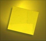 Grunge gelbes Papierblatt Stockfotos