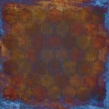 Grunge geometric hexagon pattern Stock Photo