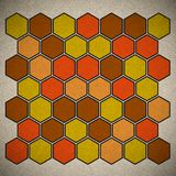 Grunge geometric hexagon pattern Stock Photos