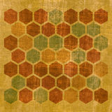 Grunge geometric hexagon pattern Royalty Free Stock Photography