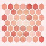 Grunge geometric hexagon pattern Royalty Free Stock Photos