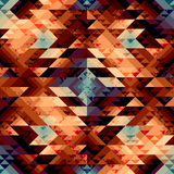 Grunge geometric pattern in aztecs style. Seamless background pattern. Grunge geometric pattern in aztecs style Royalty Free Stock Photography