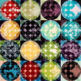 Grunge geometric pattern. Stock Images
