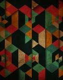 Grunge geometric patterned background Stock Photo