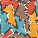 Grunge geometric seamless pattern Stock Photo