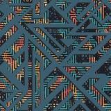 Grunge geometric seamless pattern Royalty Free Stock Photos