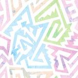 Grunge geometric seamless pattern. Eps 10 vector file Royalty Free Stock Photos