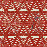 Grunge geometric seamless pattern, vintage vector repeat backgro. Und with aged texture Stock Photos