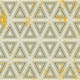 Grunge geometric seamless pattern, vintage vector repeat backgro. Und with aged texture Royalty Free Stock Photo